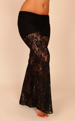 Hipnotic Pants Black Lace