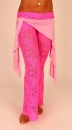 Hipnotic Pants Stretch Lace pink