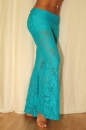 Hipnotic Pants Stretch Lace türkis